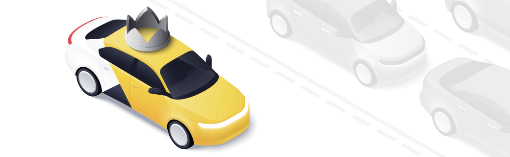 Корона в Яндекс.Такси для автомобиля